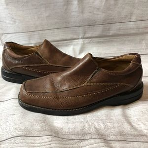 Bass Eaton Mens Size 10M Brown Leather Loafers